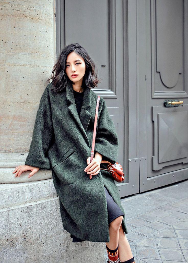 Green Fuzzy Coat – The Frankie Shop //@studiogabe.lovely