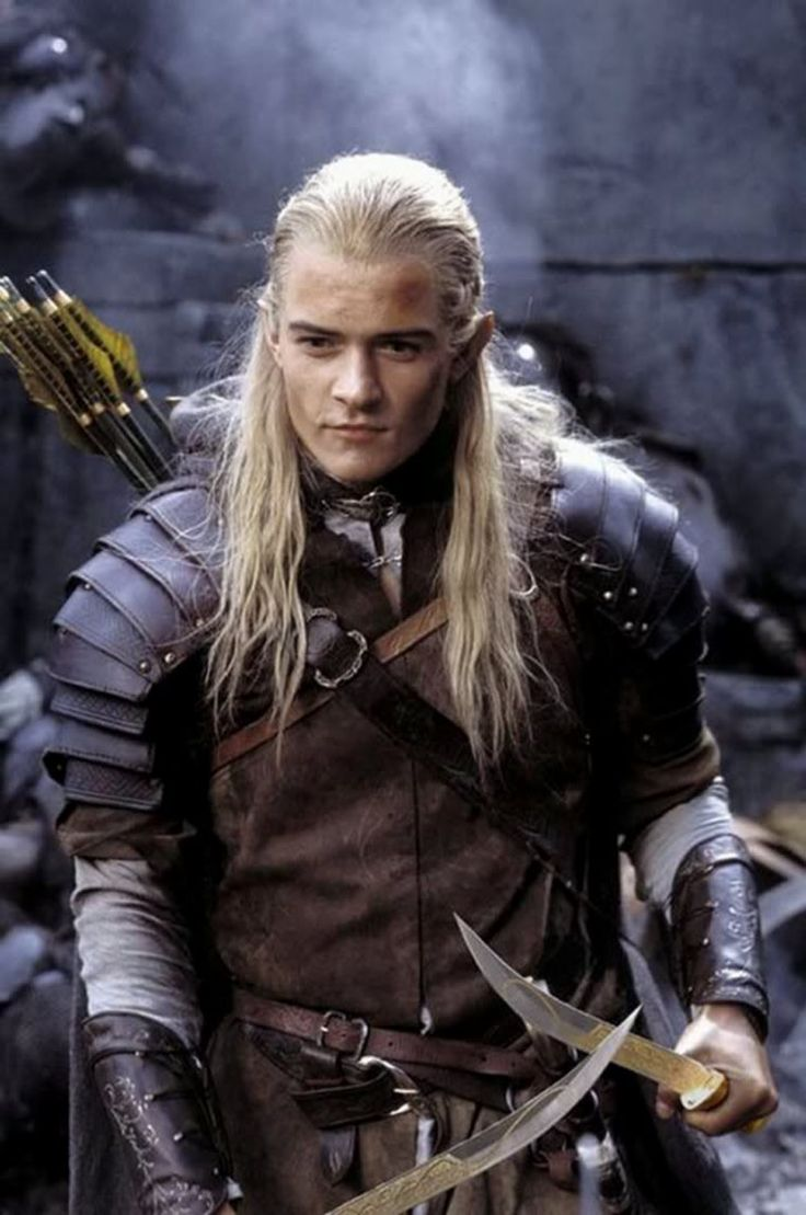 Legolas, The Lord of the Rings. Yeah I totally had a huge poster of this when I was in middle school. don't hate!