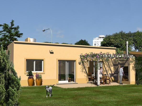 Cl sica techo plano 2 dormitorios 8 66m procrear for Casa clasica 2 dormitorios techo inclinado