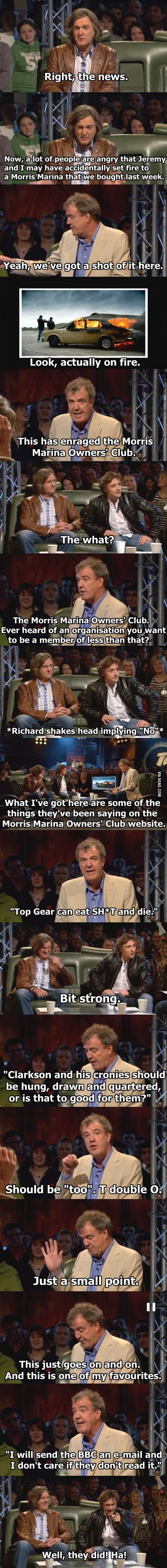 One of my favorite Top Gear scenes.