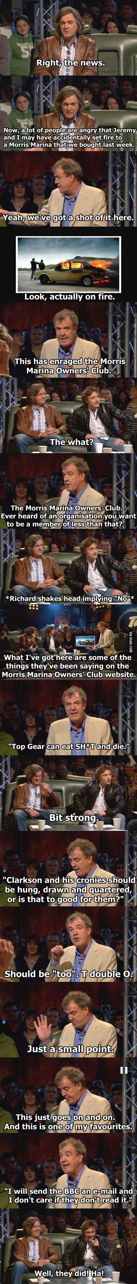 One of my favorite Top Gear scenes.