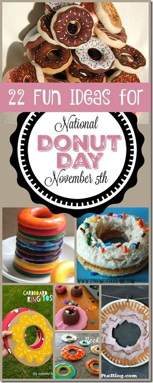 National Donut Day is November 5th. Love all these fun, creative donut day activities, donut day crafts, and donut day lunch ideas to make it a special memorable day for kids from toddler, preschool, kindergarten, 1st grade, 2nd grade, and 3rd grade. (kids activities)