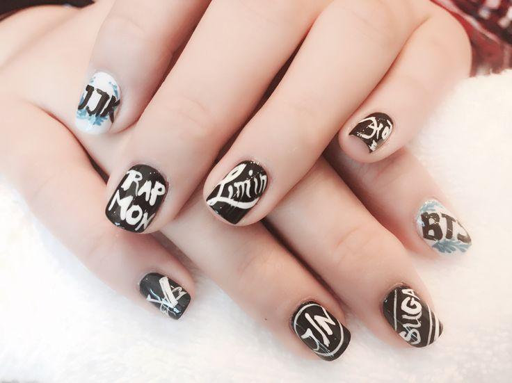 BTS KPop nails art design! @venusnailsdayspa #venusnailsdayspa