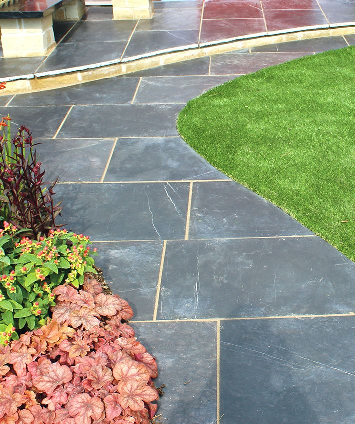 Midnight Blue Limestone Flagstones | Garden Path | Landscaping | Patio | Modern Design