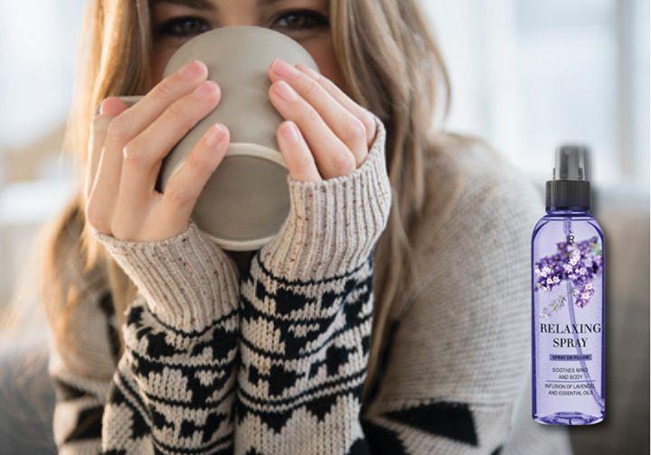 Kom helemaal tot rust met de Relaxing Spray: een infusie van kalmerende essentiële oliën en lavendel #aloevera #vitamins #minerals #cosmetics