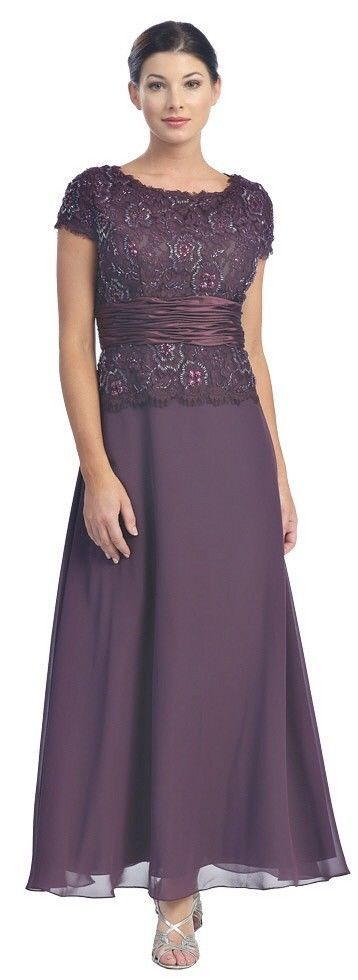 Classic Mother of The Bride Groom Elegant Wedding Formal Gown Dress | eBay Variety of colors.