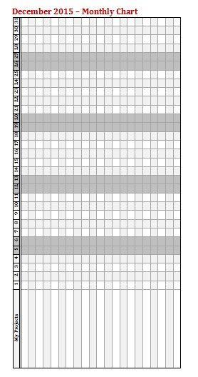 Calendario mensile stampabile 2015 inserto Refill di KrissyArtShop