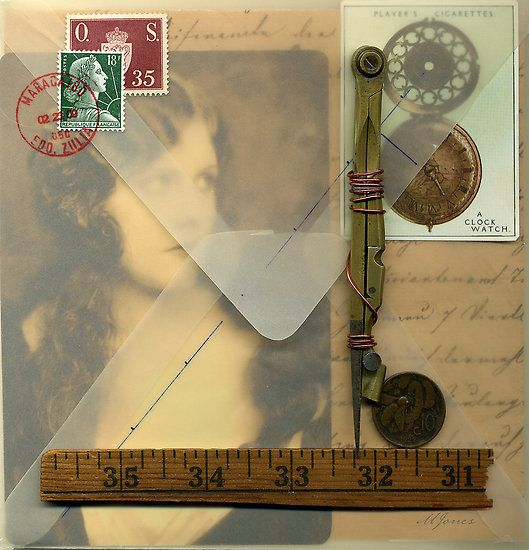 ⌼ Artistic Assemblages ⌼  Mixed Media & Collage Art - The Missing Muse, Michael Douglas Jones