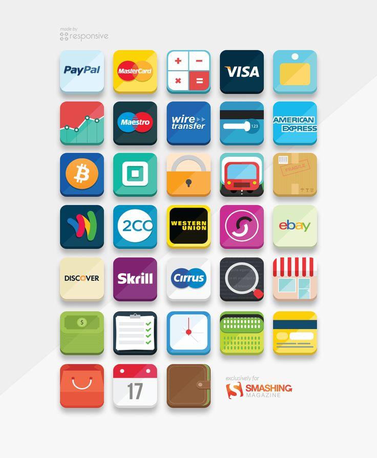 Freebie: E-Commerce Icon Set (33 Icons, PNG, PS, AI)