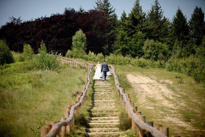 bruidspaar in natuurgebied kwintelooyen