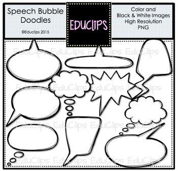 ~FREE~ Speech Bubble Doodles Clip Art