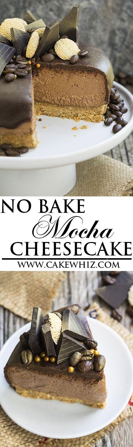 NO BAKE MOCHA CHEESECAKE