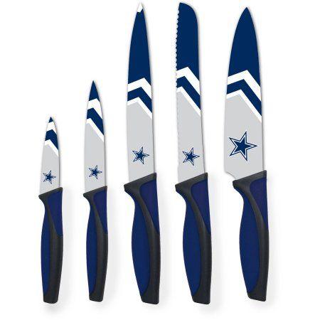 The Sports Vault NFL 5-Piece Kitchen Knife Set, Dallas Cowboys, Blue