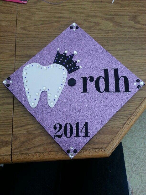 dental hygiene graduation cap #dentalhygiene #graduationcap
