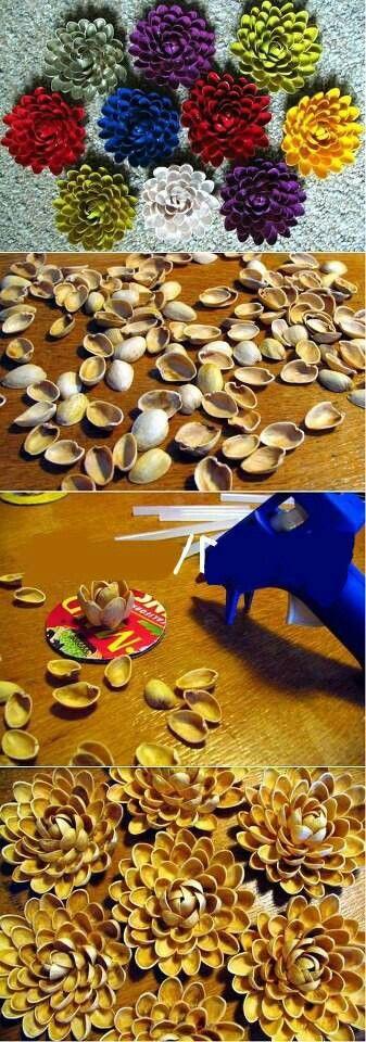 Cascara de pistachos.