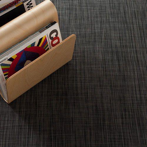 Chilewich Ikat Deep Grey Woven Floor Mat Modern Rug Runner