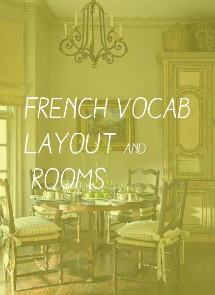 French Vocab Layout and Rooms Plans et pièces