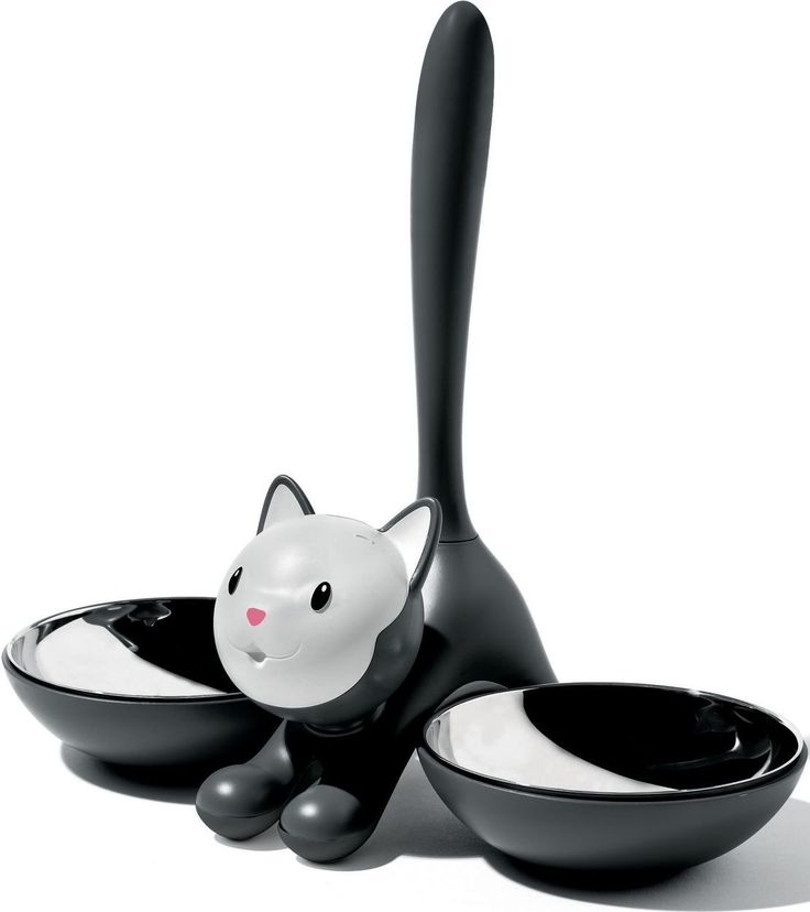 Alessi AMMI09 B Tigrito Katzennapf, Schwarz: Amazon.de: Pet Supplies