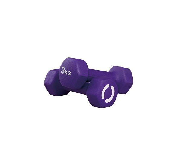 Buy Opti Neoprene Dumbbells - 2 x 3kg at Argos.co.uk, visit Argos.co.uk to shop online for Weights and dumbbells, Weights, multi-gyms and strength training, Fitness equipment, Sports and leisure