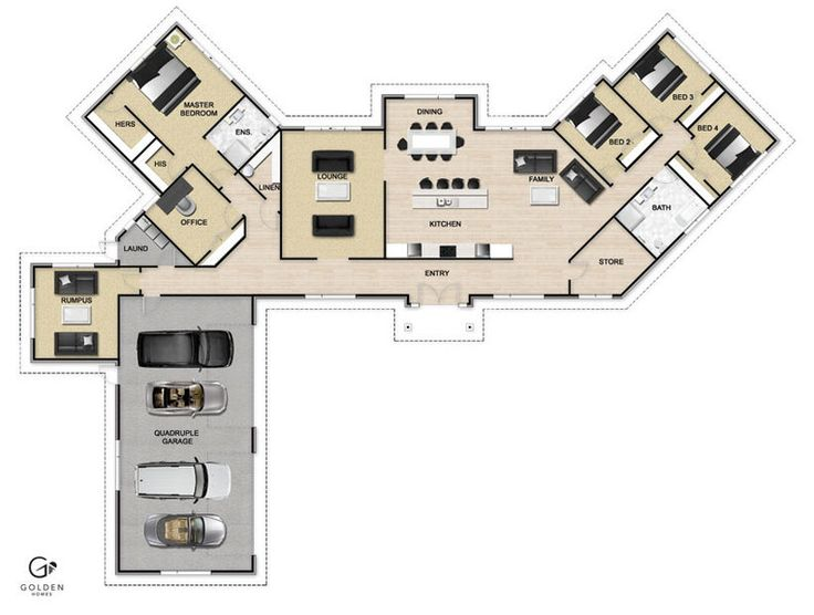 Discovery Plan - Love the separateness of the master bedroom.