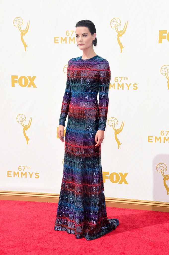 Jaimie Alexander in party dress by Armani Privé