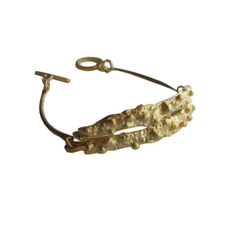 Handmade gold bracelet/ silver bracelet/designer jewelry/ unique bracelet /statement bracelet by AthenArt on Etsy