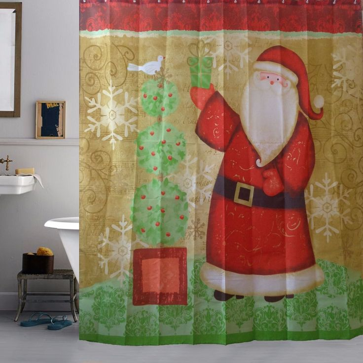 Cheap curtain rod decorative, Buy Quality curtain switch directly from China curtain fabric for kitchen Suppliers: 2016 High Quality Merry Christmas Fabric Waterproof Bathroom Shower Curtain Decor With Hooks Bath Curtains Cortinas Para Banheir