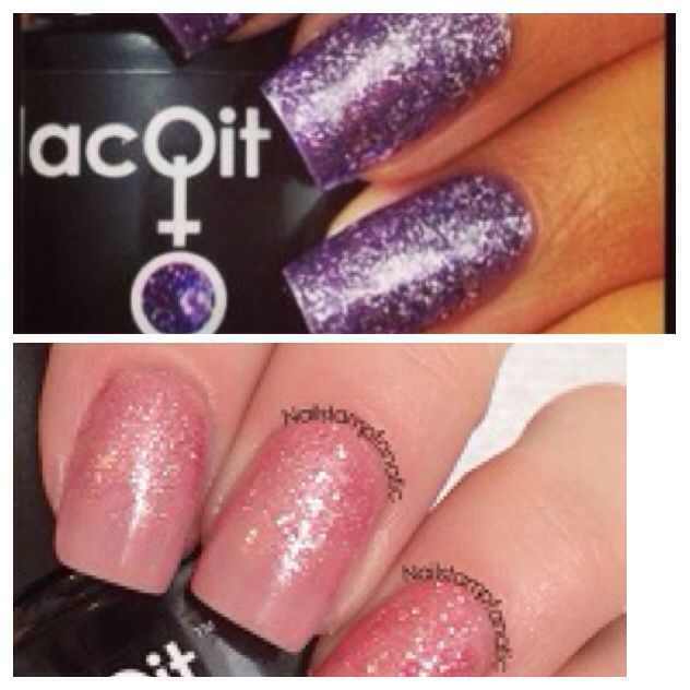 LacQit Glitters ! Pop on this Purple /A Flare for Pink  $4.99 each or 2 for $9.90