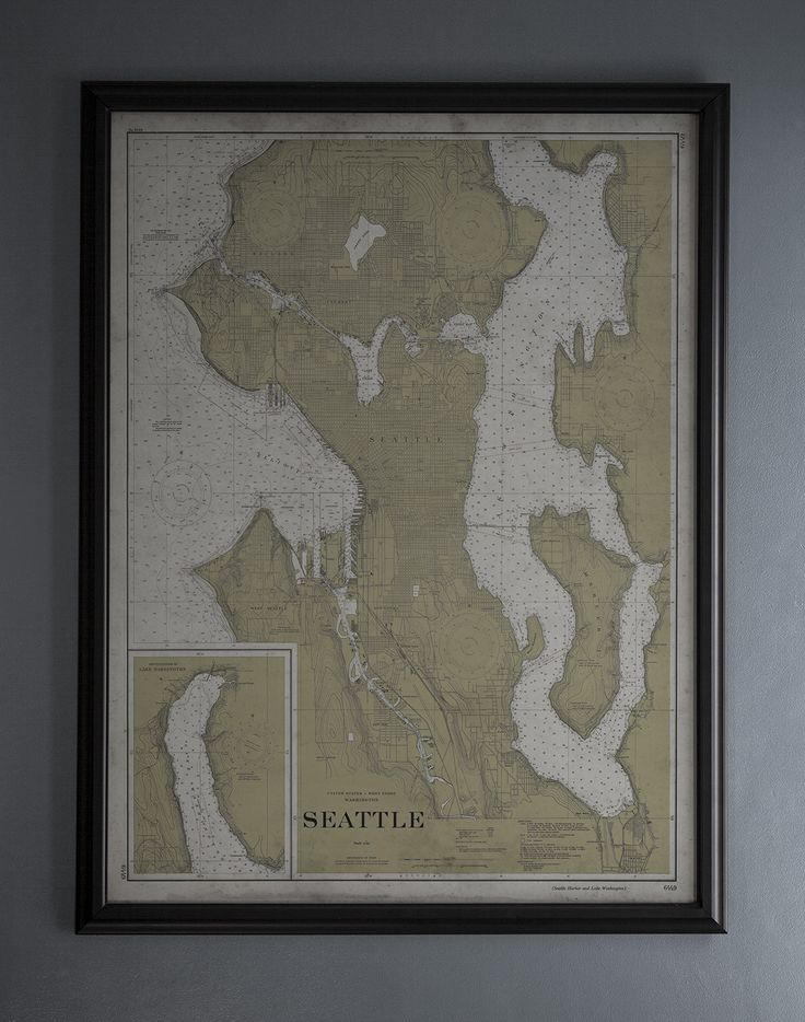 Seattle Map : Vintage Nautical Map of Seattle, Washington - 20th C.