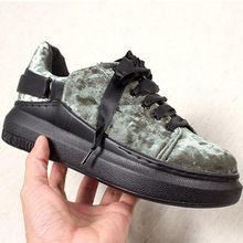 Весной и Осенью новый бархат женская обувь толстым дном босоножки повседневная обувь на плоской подошве туфли На Платформе huarche обувь(China (Mainland))
