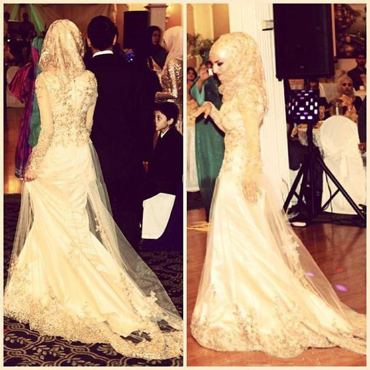 Элегантный арабские женщины русалка с длинным рукавом аппликация кружева 2016 одеяние де вечер модест мусульманин вечернее платье развертки поезд элегантный платье