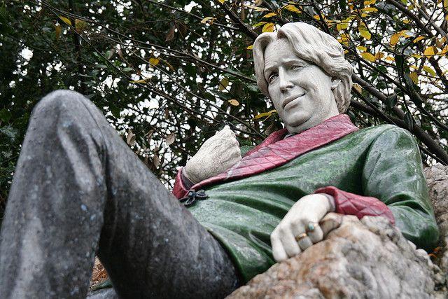 This Oscar Wilde tribute in Dublin's Merrion Square park.