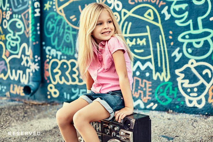Reserved Kids SS16 #street#wear#pink#blouse#denim#shorts
