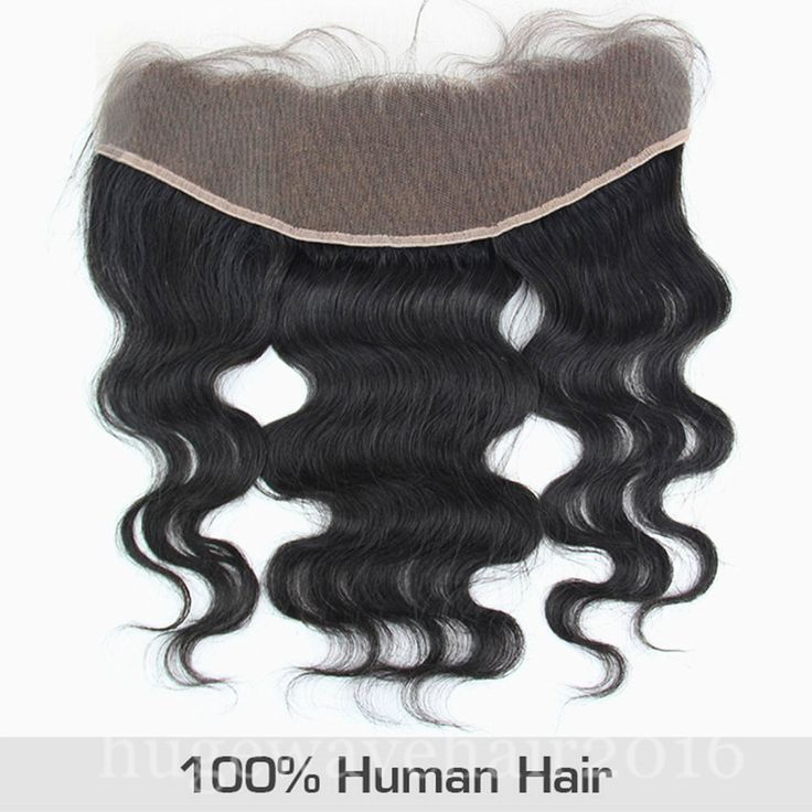 13x4 Body Weave 4x13 Hair Lace Frontal Closure 3 Part Human Invisible Ear to Ear | eBay