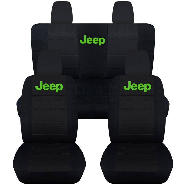 Jeep Wrangler JK (2011 to 2016) Black Seat Covers with Jeep: Black with Purple - Full Set (22 Colors Available)