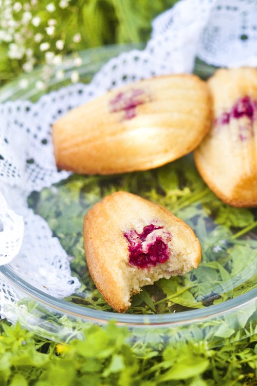 Madeleines. If only Proust had raspberries...