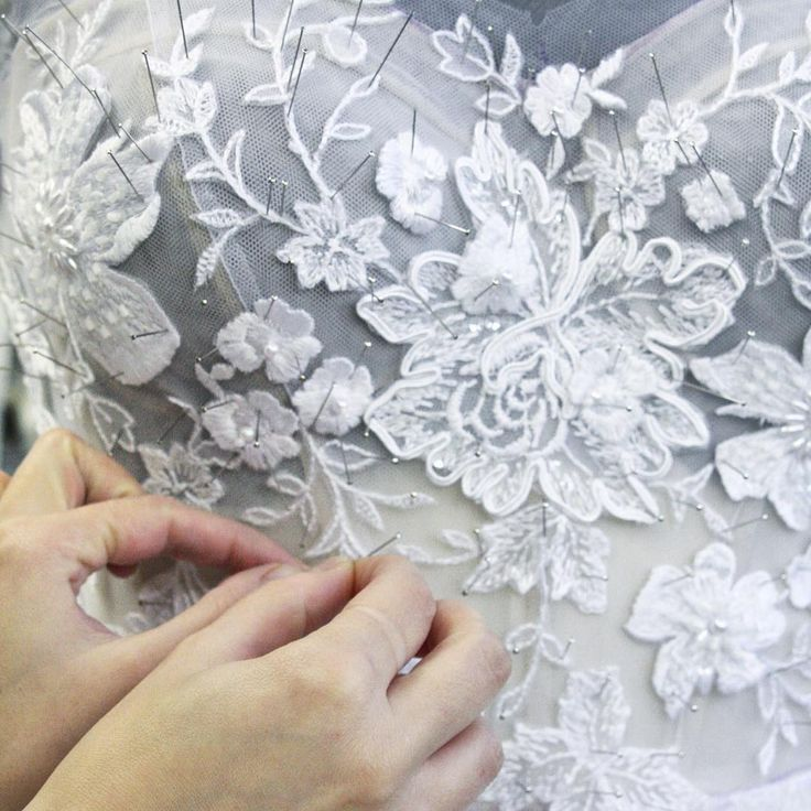 """Work in progress - it's all about the hand work #mirazwillinger #behindthescenes #atelier #couture"""
