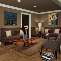 Cozy wall and ceiling color: Design Ideas, Wall Color, Living Room, Basement Ideas, Basements