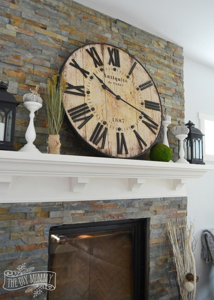 Our Vintage Industrial Fall Mantel | The DIY Mommy