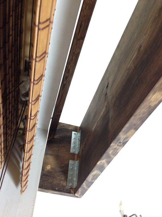 Custom Made Window Valance Rustic Wood Curtain Valance In