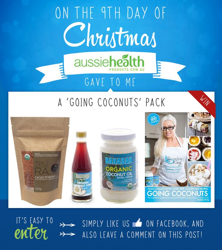 Day 9 - Win a 'Going Coconuts' Pack! @banabancoconut #competition #contest #giveawaway #sweepstake #win #christmas #xmas #xmas2014 #12DaysOfChristmas #12DaysOfGiveaways #prize #recipebook #rawfood #rawfoodrecipes #rawfooddiet #coconut #coconutoil #cacao #coconuts #coconutsugar