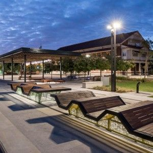 Midland Railway Square, Interpretation of the old structure, benches detail- Australia