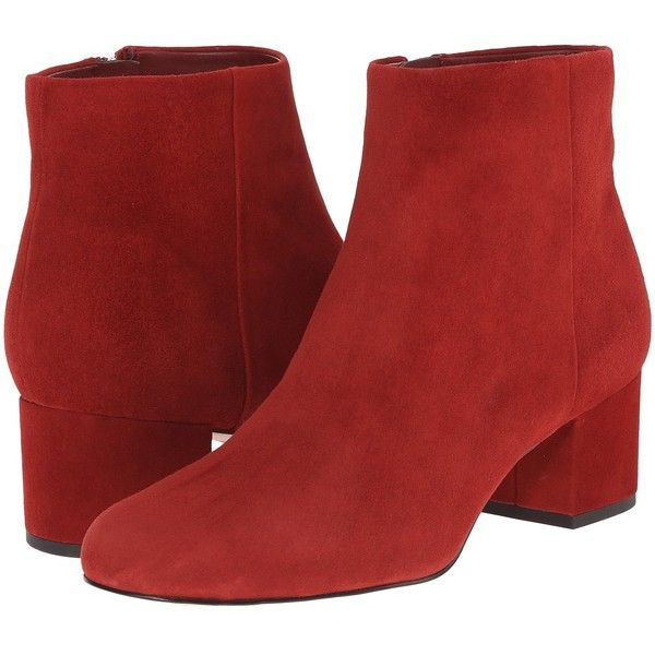 6218adab306dc8 Sam Edelman Edith (Rust Red Suede) Women s Zip Boots (5