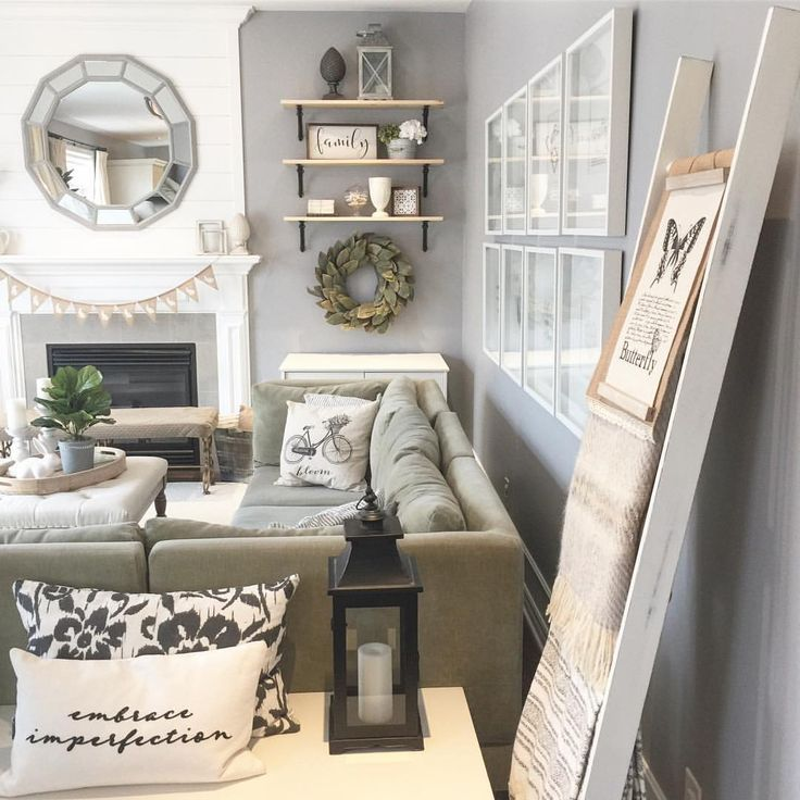 """138 Likes, 15 Comments - Shawna (@willowbloomhome) on Instagram: """"I've added some new DIY projects to our family room- the ladder, bunny banner, and potted faux-…"""""""