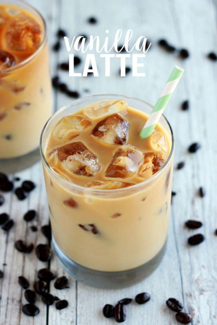Iced Vanilla Latte Recipe Starbucks Recipes Coffee