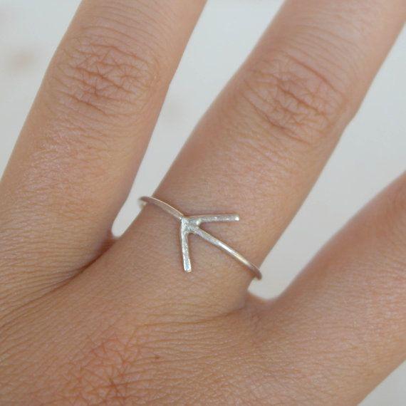 Anello argento 925 con freccia interamente fatto a di AMEjewels