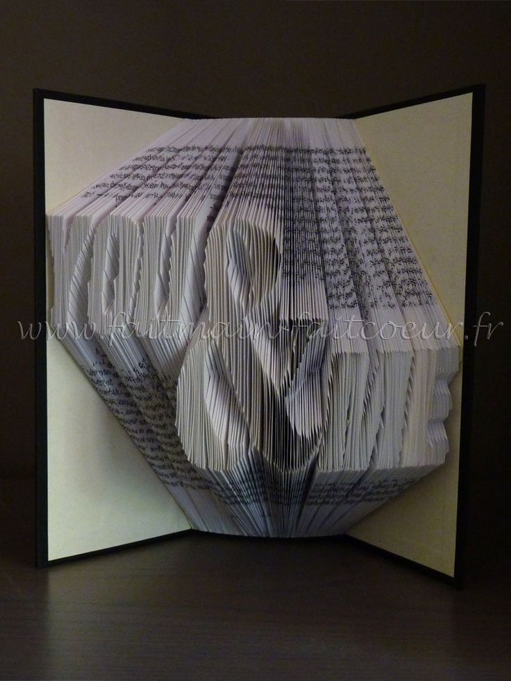 how to make folded book art