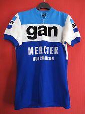 Maillot cycliste Gan Mercier Hutchinson 1972 Vintage Tour de France rare - S / M