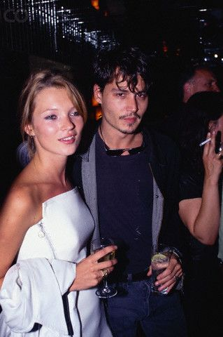 Best '90s couple: Kate Moss and Johnny Depp. #strikeapose #vogue #model
