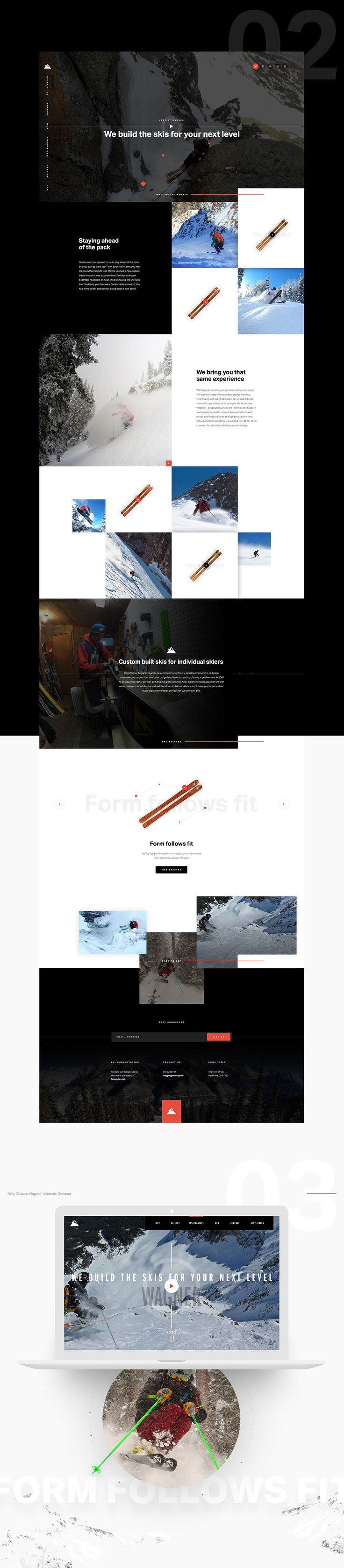Wagner Skis on Web Design Served